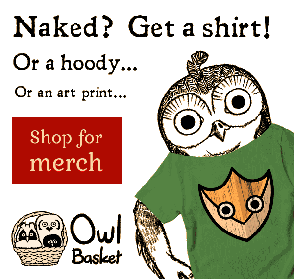 Ad to Owl Basket merchandise shop